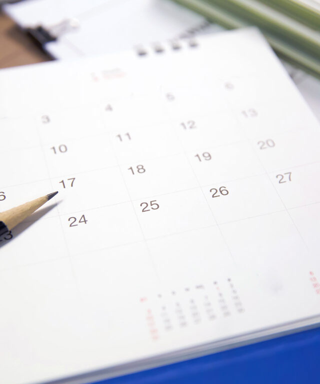 Agenda sur une table
